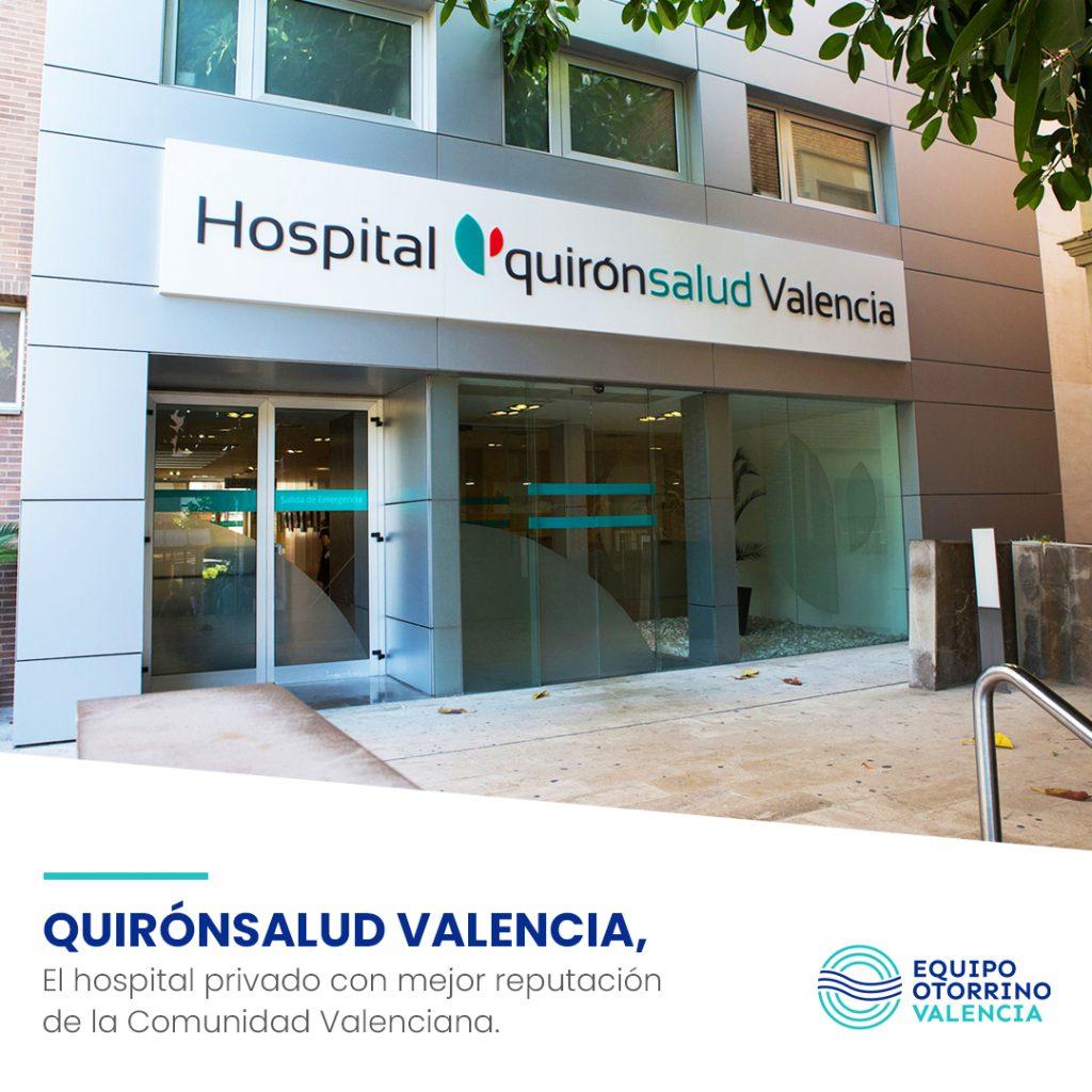 Quirónsalud Valencia, el hospital privado con mejor reputación de la Comunidad Valenciana